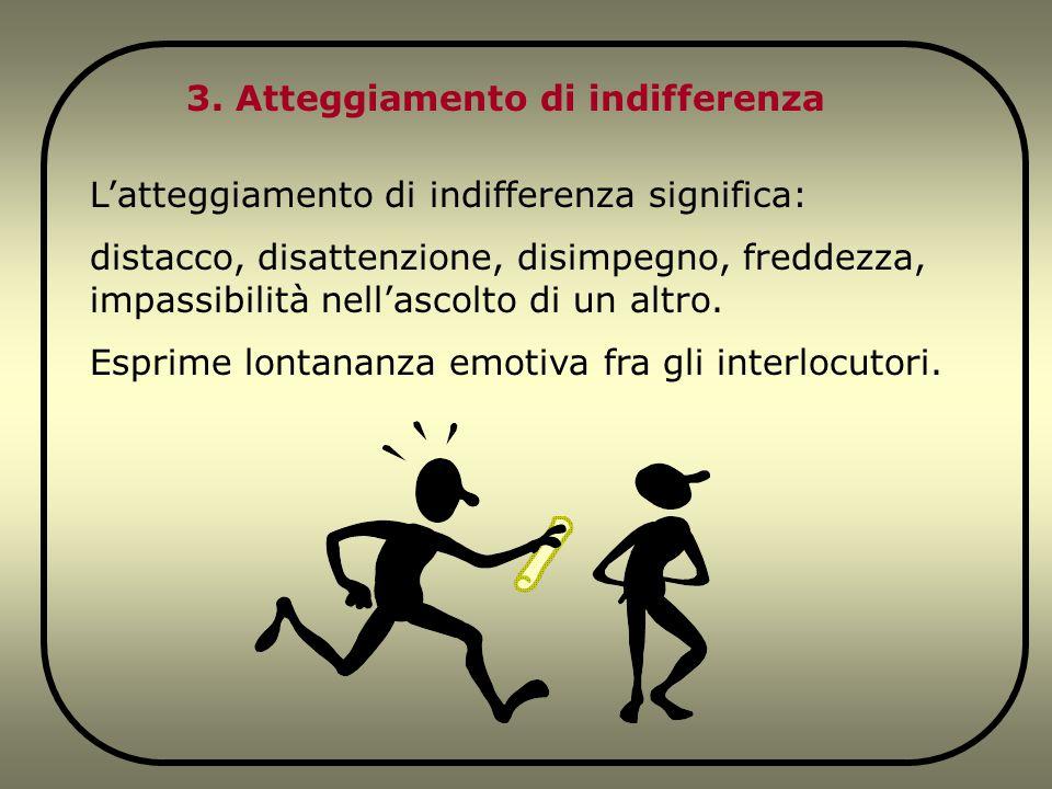 3. Atteggiamento di indifferenza