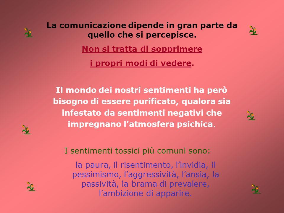 La comunicazione dipende in gran parte da quello che si percepisce.