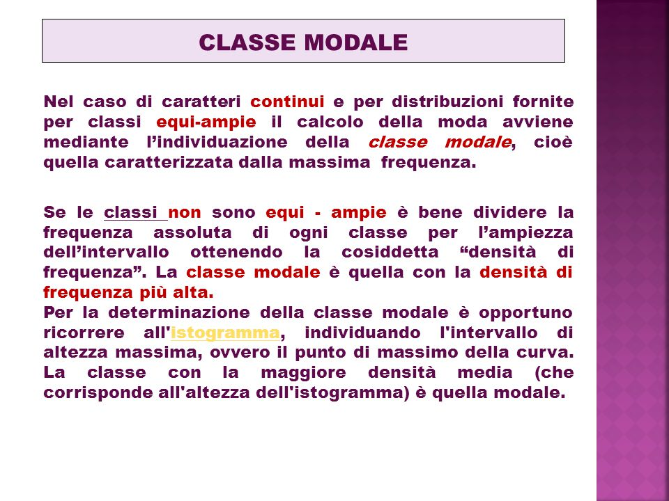 CLASSE MODALE