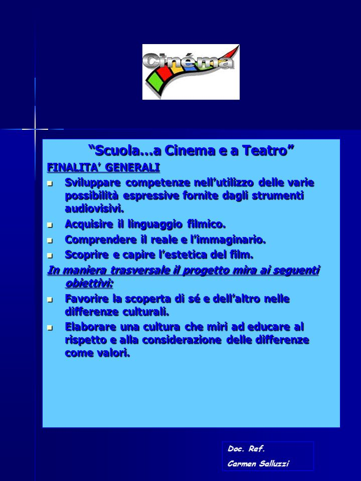 Scuola…a Cinema e a Teatro