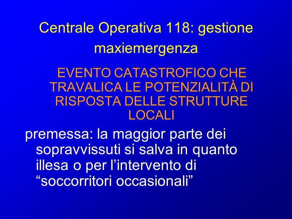 Centrale Operativa 118: gestione maxiemergenza
