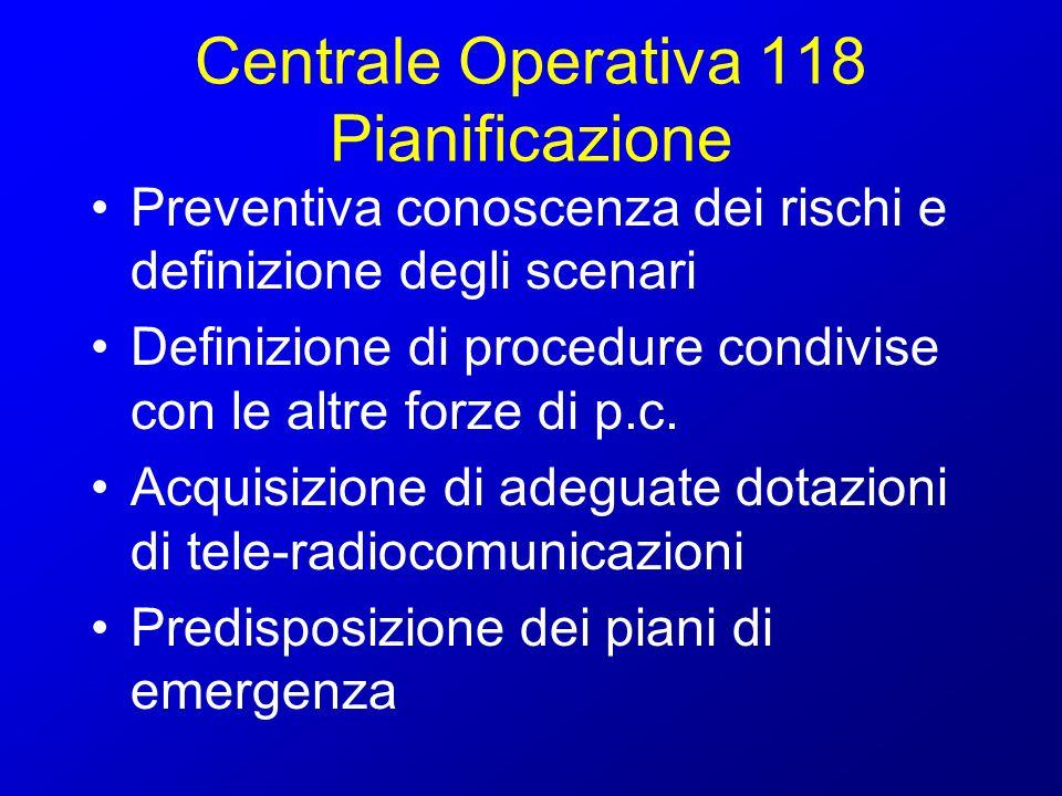 Centrale Operativa 118 Pianificazione