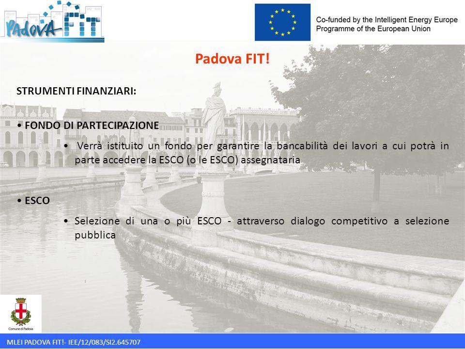 Padova FIT! STRUMENTI FINANZIARI: FONDO DI PARTECIPAZIONE