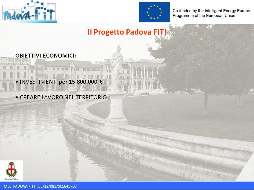 Il Progetto Padova FIT! OBIETTIVI ECONOMICI: