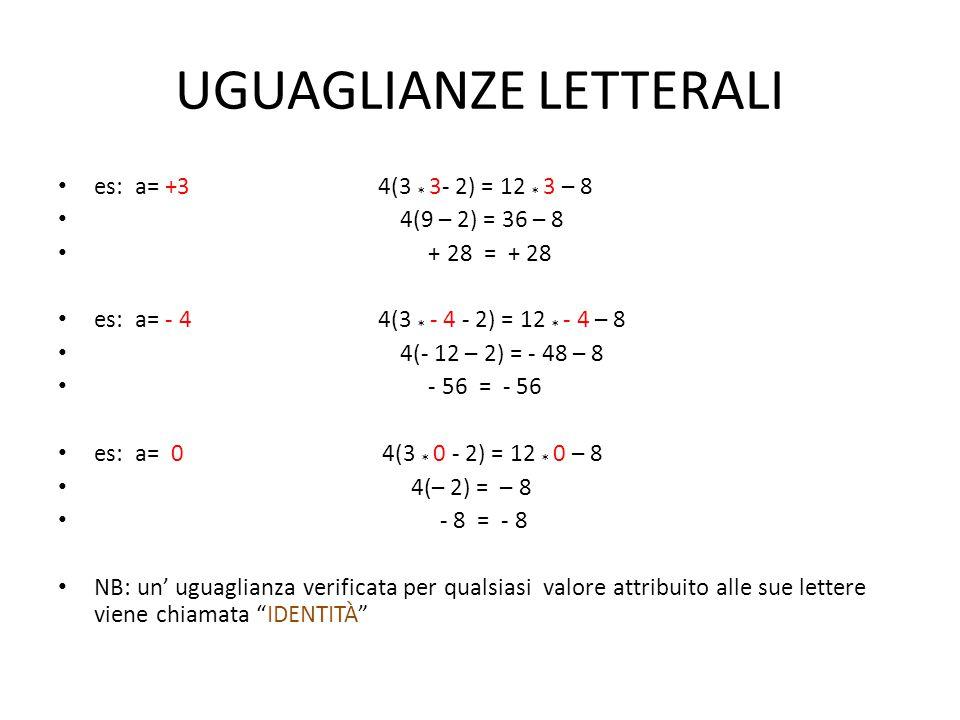 UGUAGLIANZE LETTERALI