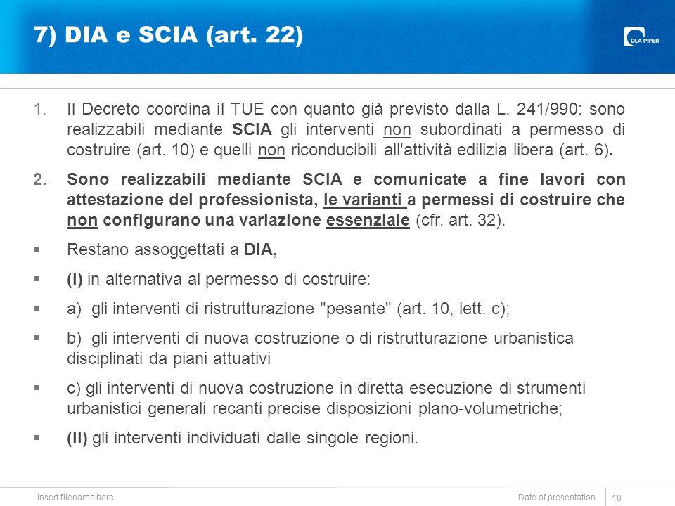 20/09/14 7) DIA e SCIA (art. 22)