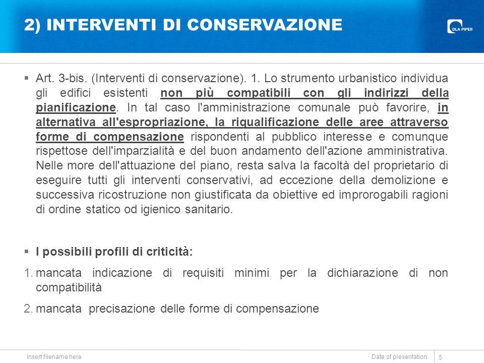 2) INTERVENTI DI CONSERVAZIONE