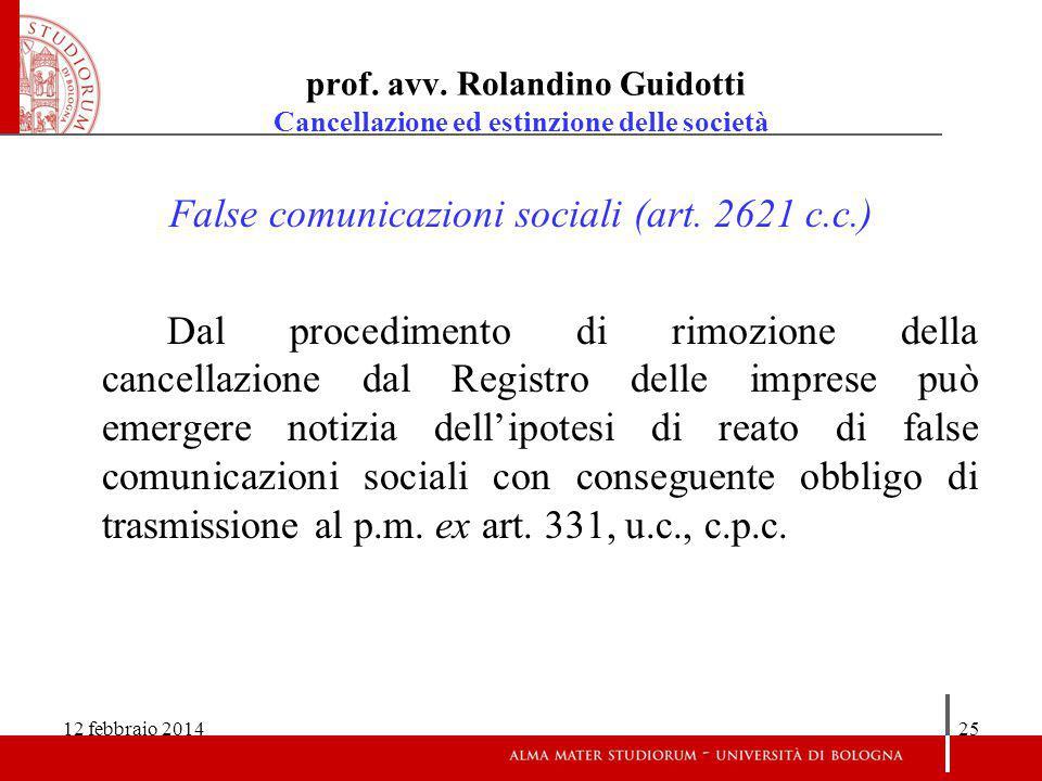 False comunicazioni sociali (art. 2621 c.c.)
