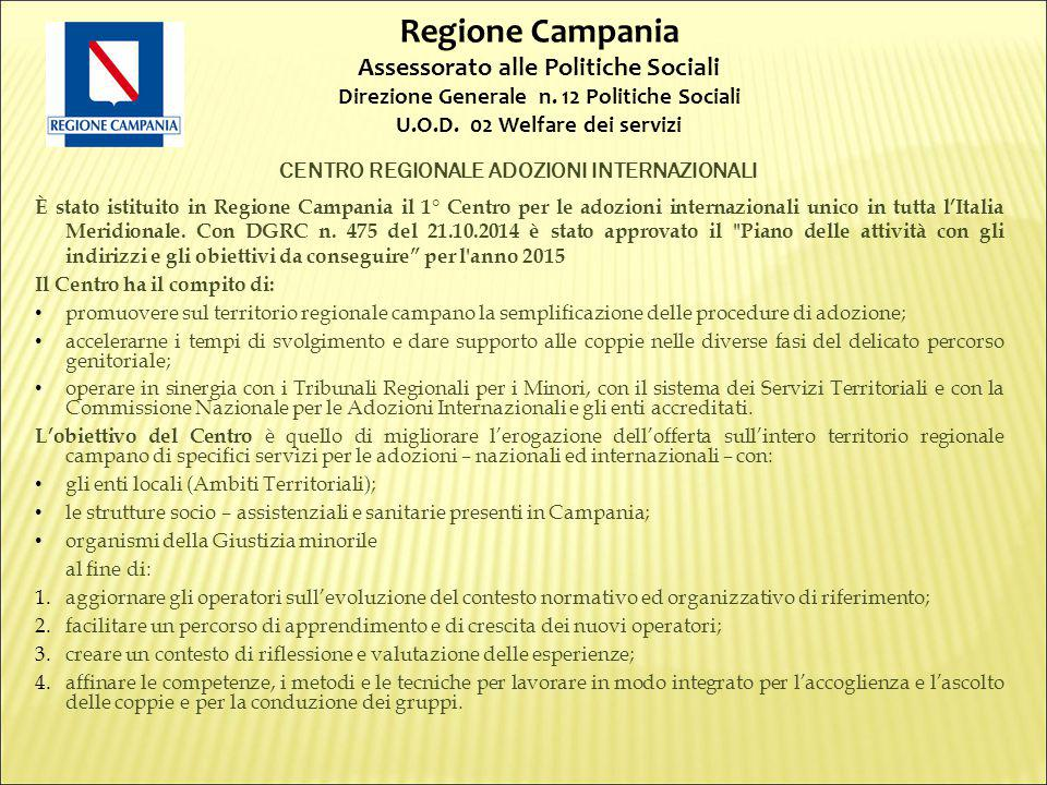CENTRO REGIONALE ADOZIONI INTERNAZIONALI