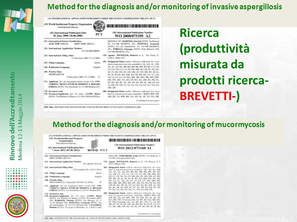 Ricerca (produttività misurata da prodotti ricerca-BREVETTI-)