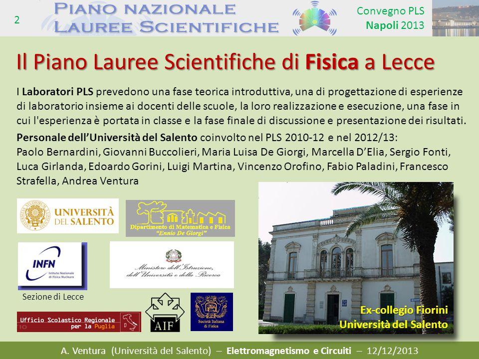 Il Piano Lauree Scientifiche di Fisica a Lecce
