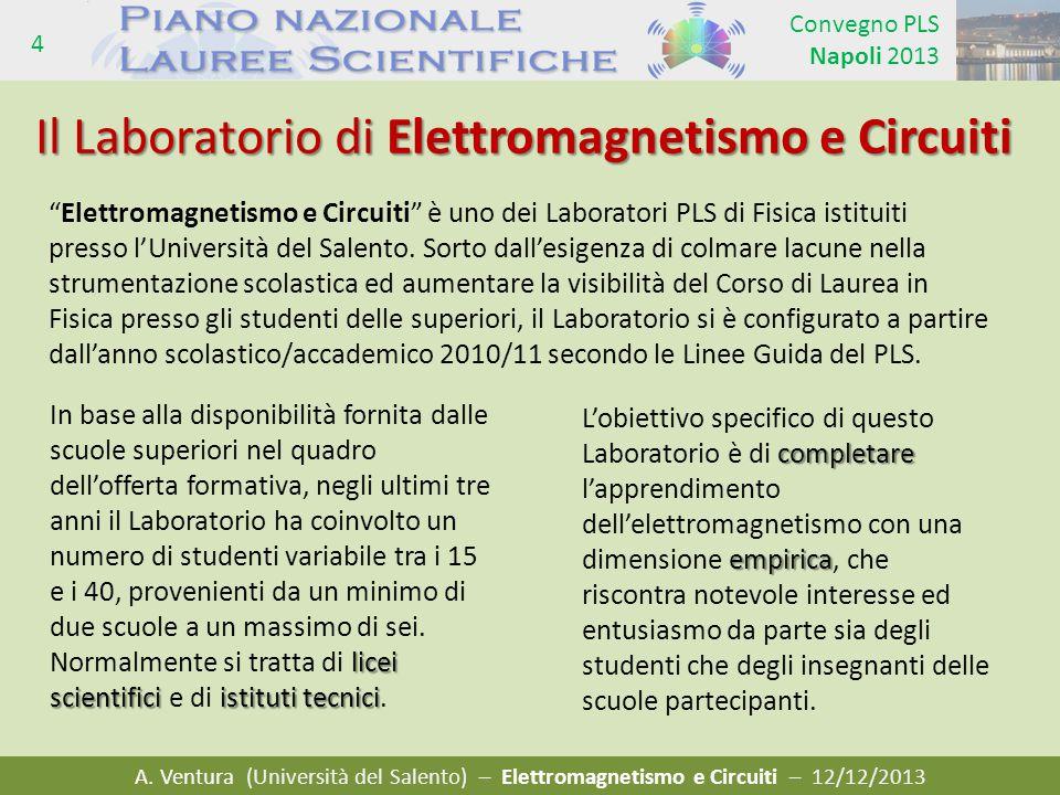 Il Laboratorio di Elettromagnetismo e Circuiti