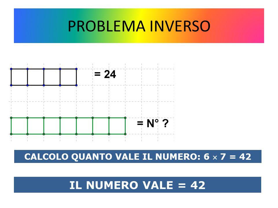 CALCOLO QUANTO VALE IL NUMERO: 6  7 = 42