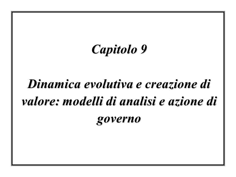 Capitolo 9 Dinamica evolutiva e creazione di valore: modelli di analisi e azione di governo