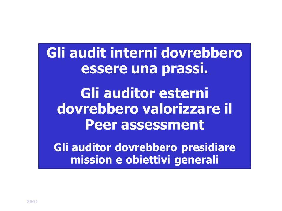 Gli audit interni dovrebbero essere una prassi.