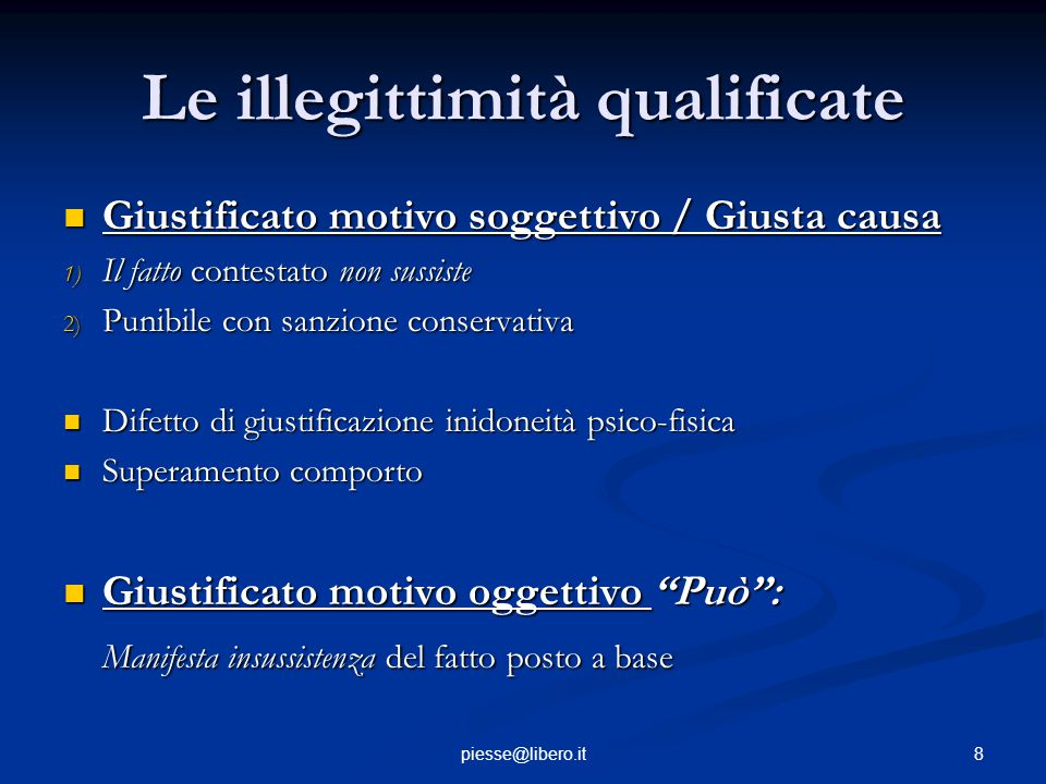 Le illegittimità qualificate