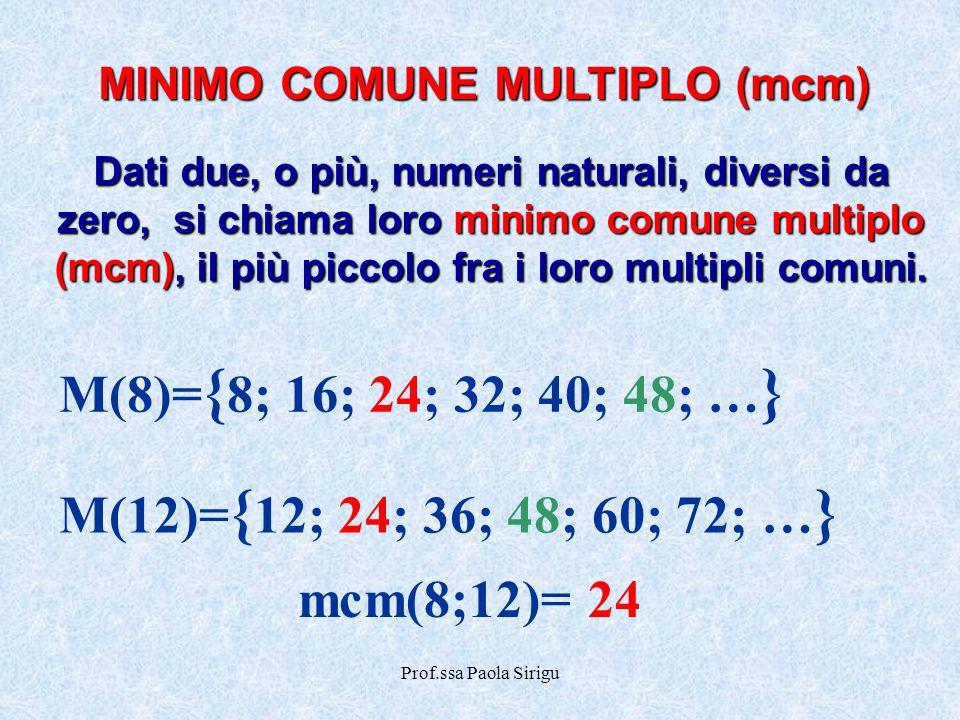 MINIMO COMUNE MULTIPLO (mcm)