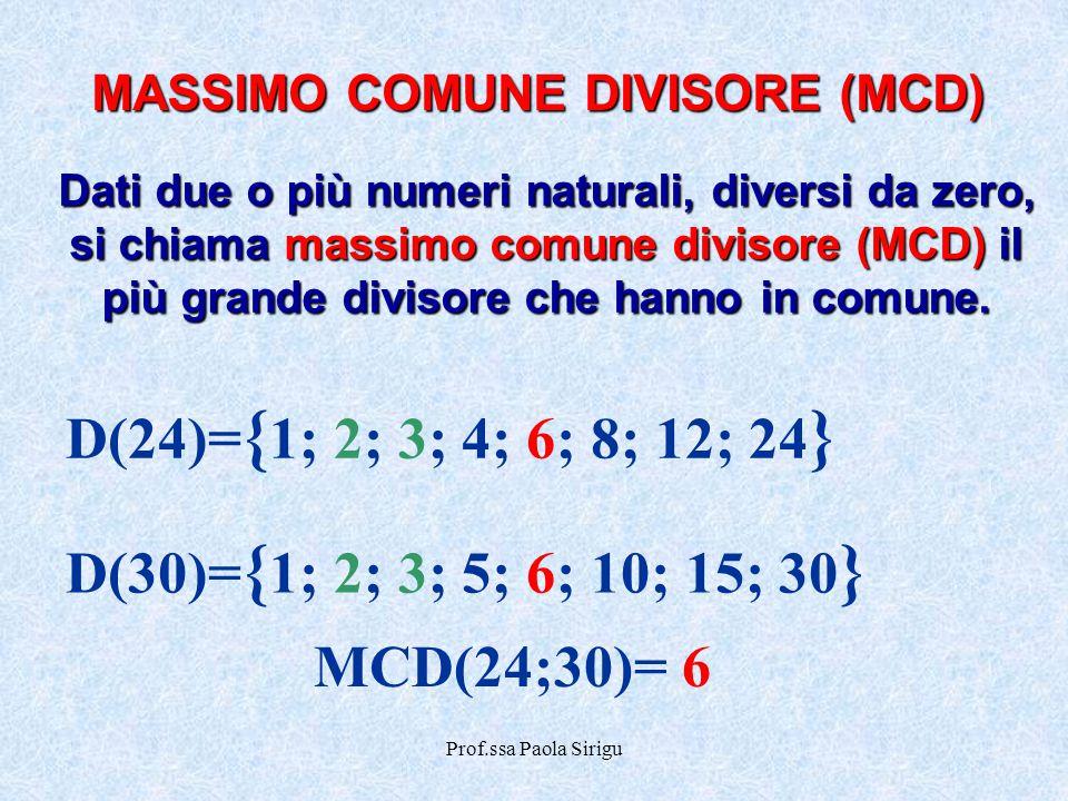 MASSIMO COMUNE DIVISORE (MCD)