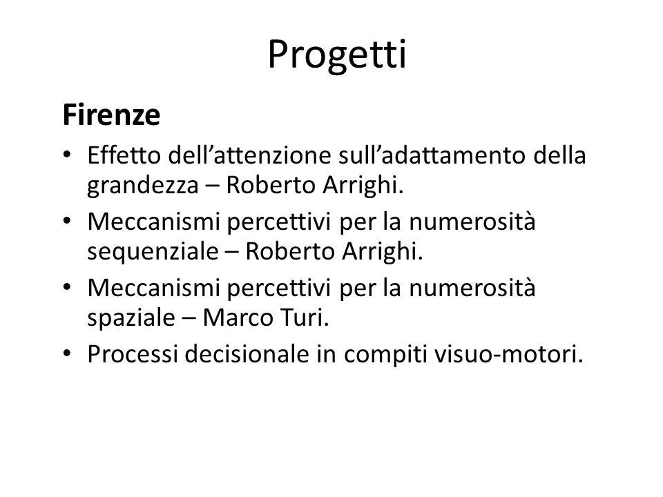 Progetti Firenze. Effetto dell'attenzione sull'adattamento della grandezza – Roberto Arrighi.
