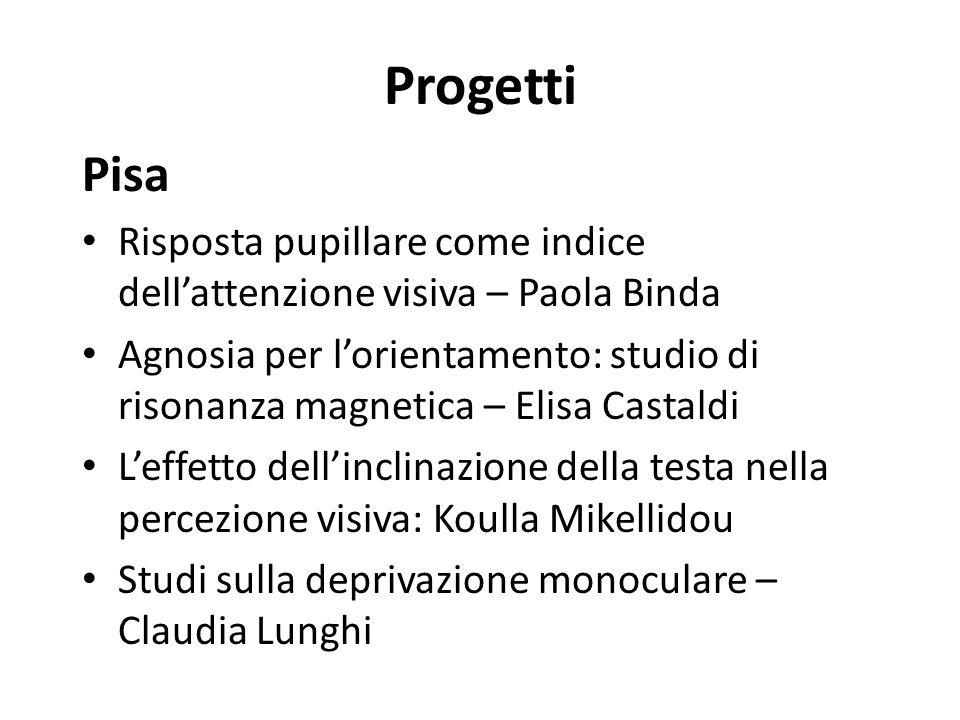 Progetti Pisa. Risposta pupillare come indice dell'attenzione visiva – Paola Binda.