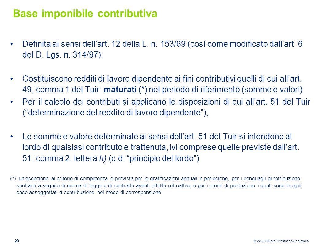 Base imponibile contributiva