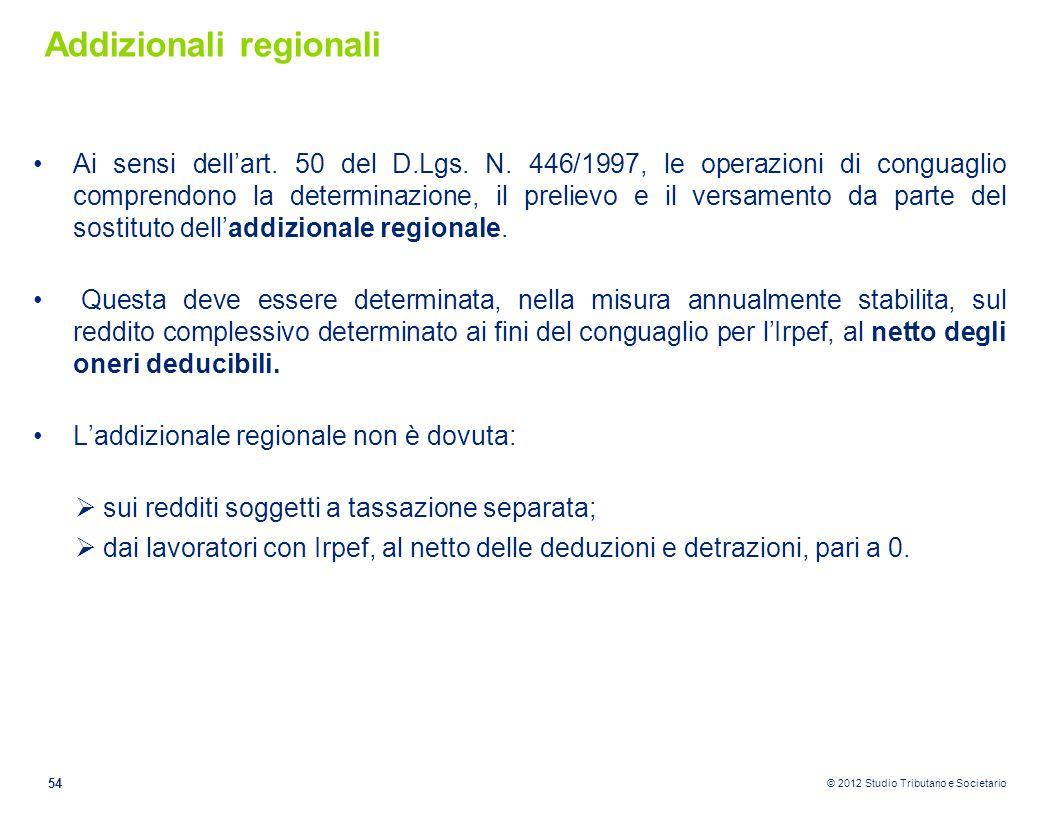 Addizionali regionali
