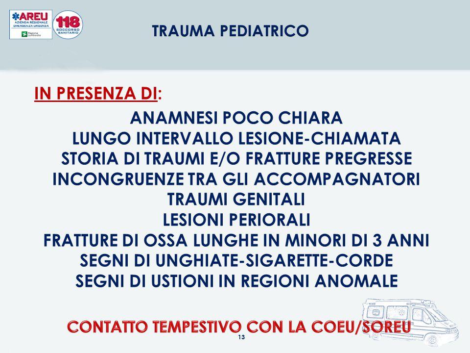 CONTATTO TEMPESTIVO CON LA COEU/SOREU