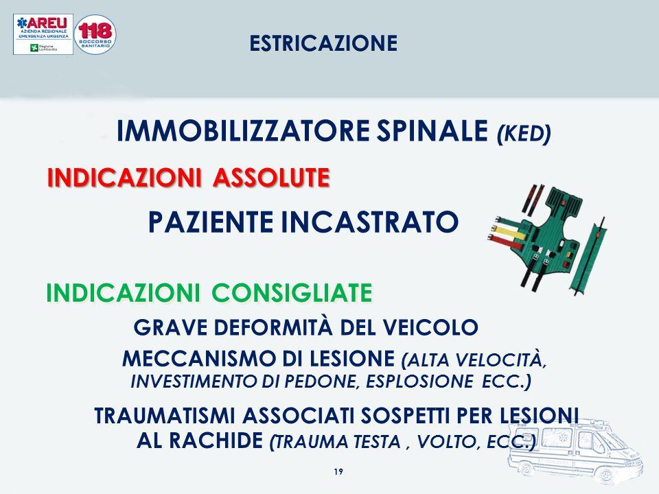 IMMOBILIZZATORE SPINALE (KED) GRAVE DEFORMITÀ DEL VEICOLO