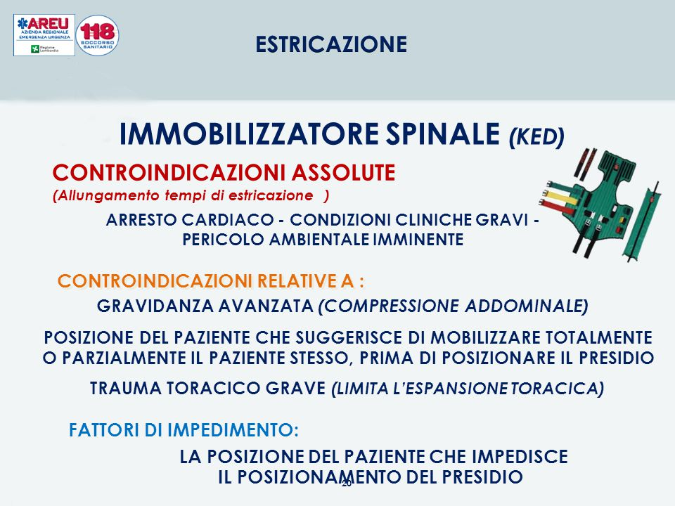 IMMOBILIZZATORE SPINALE (KED)