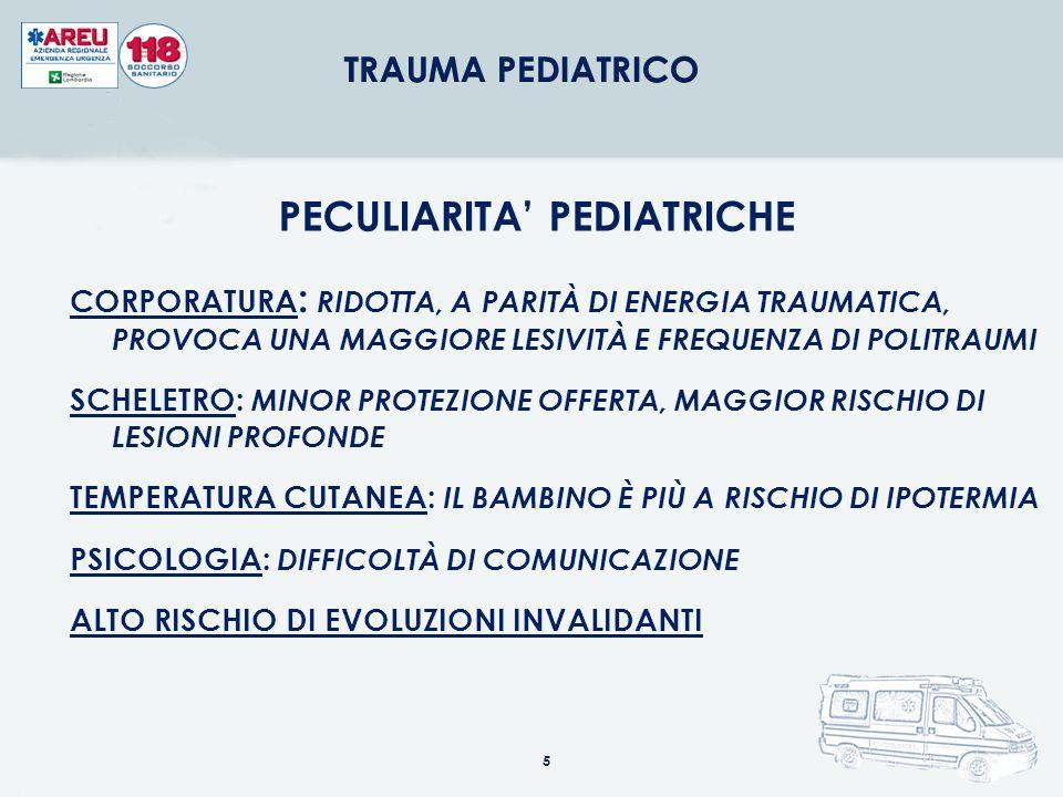 PECULIARITA' PEDIATRICHE