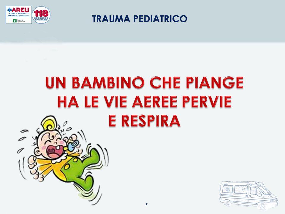 UN BAMBINO CHE PIANGE HA LE VIE AEREE PERVIE E RESPIRA