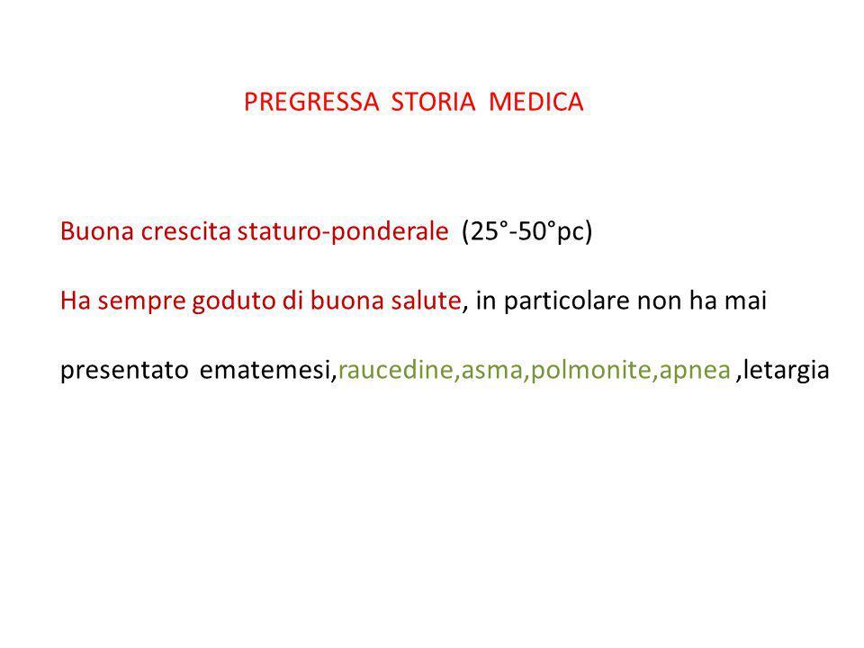 PREGRESSA STORIA MEDICA