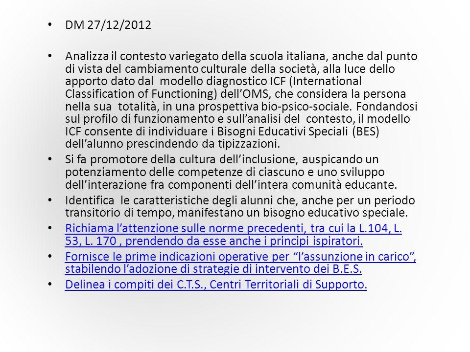 DM 27/12/2012