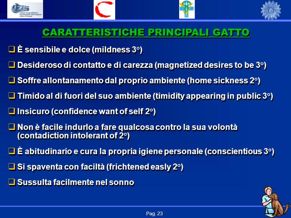 CARATTERISTICHE PRINCIPALI GATTO
