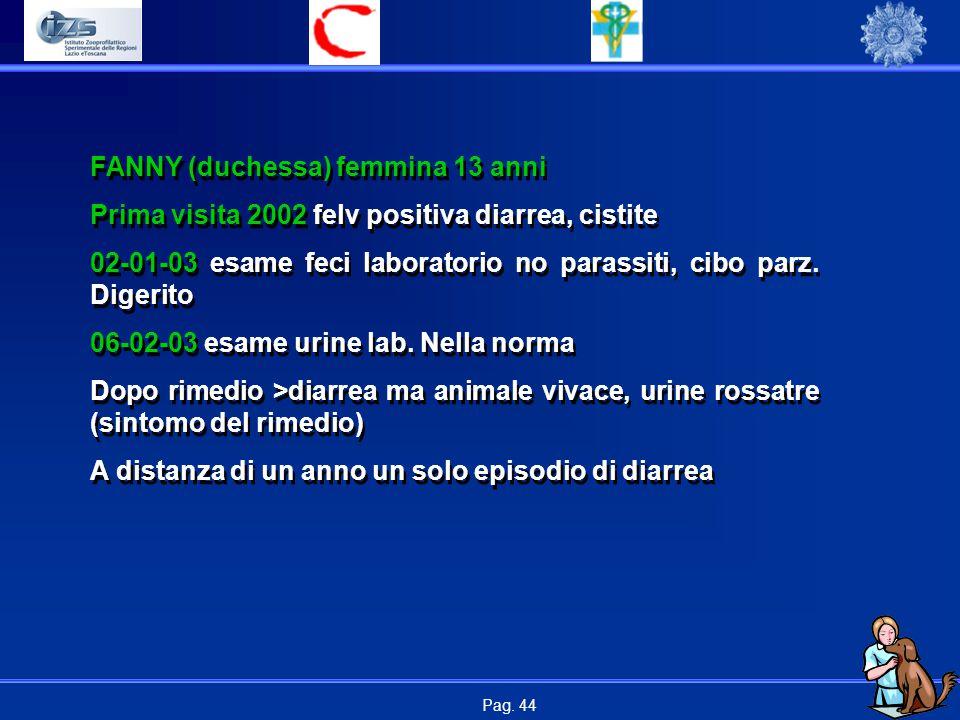 FANNY (duchessa) femmina 13 anni