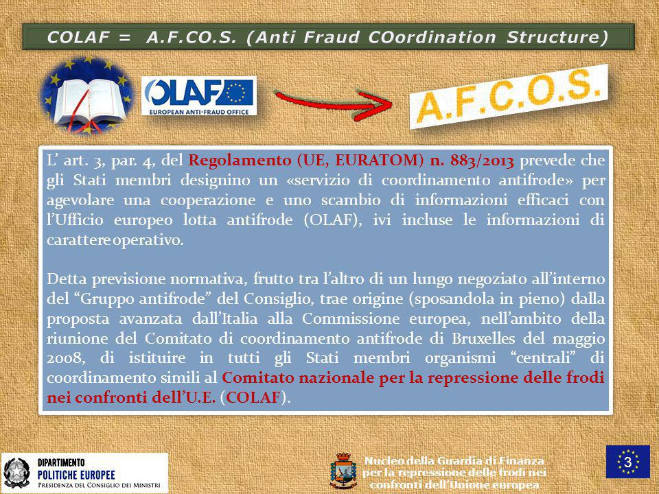 COLAF = A.F.CO.S. (Anti Fraud COordination Structure)