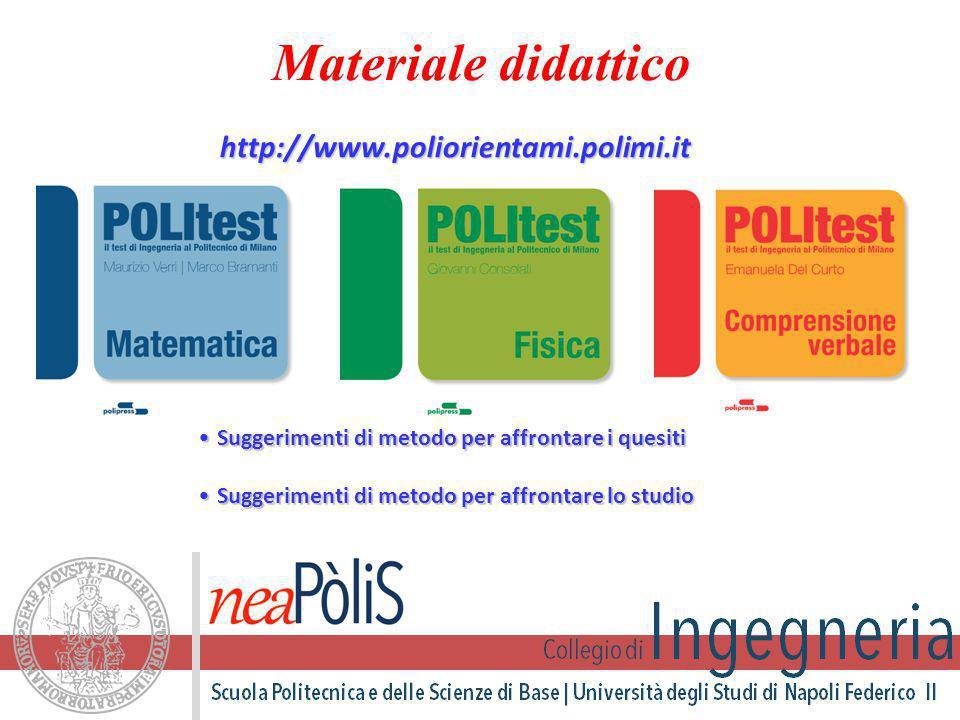 Materiale didattico http://www.poliorientami.polimi.it