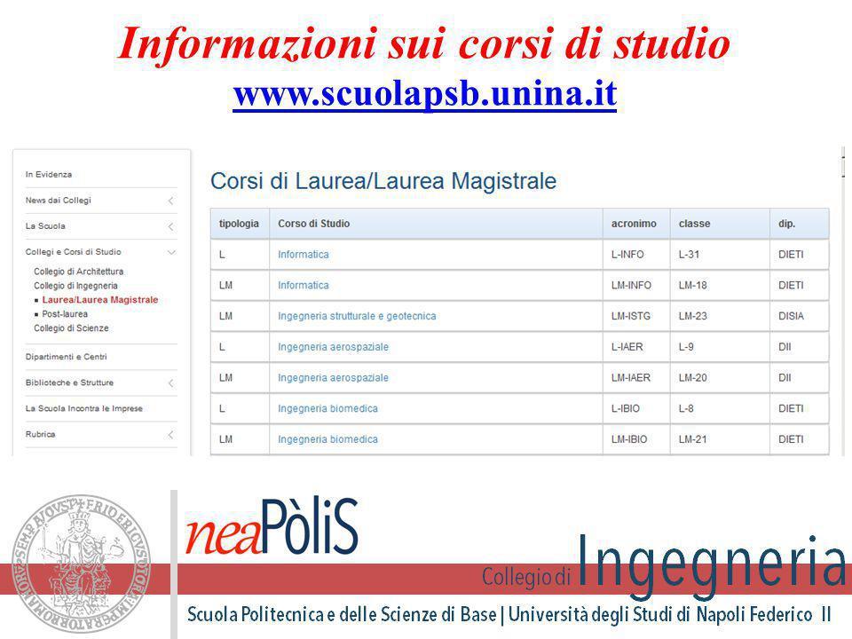 Informazioni sui corsi di studio