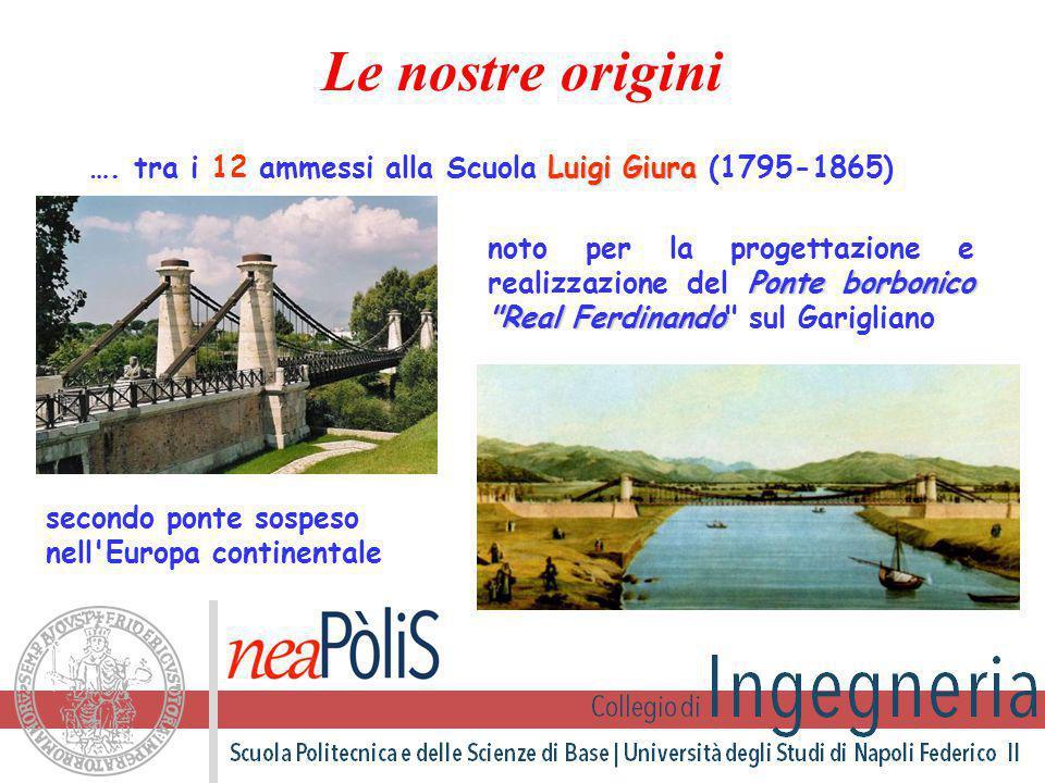 Le nostre origini …. tra i 12 ammessi alla Scuola Luigi Giura (1795-1865)