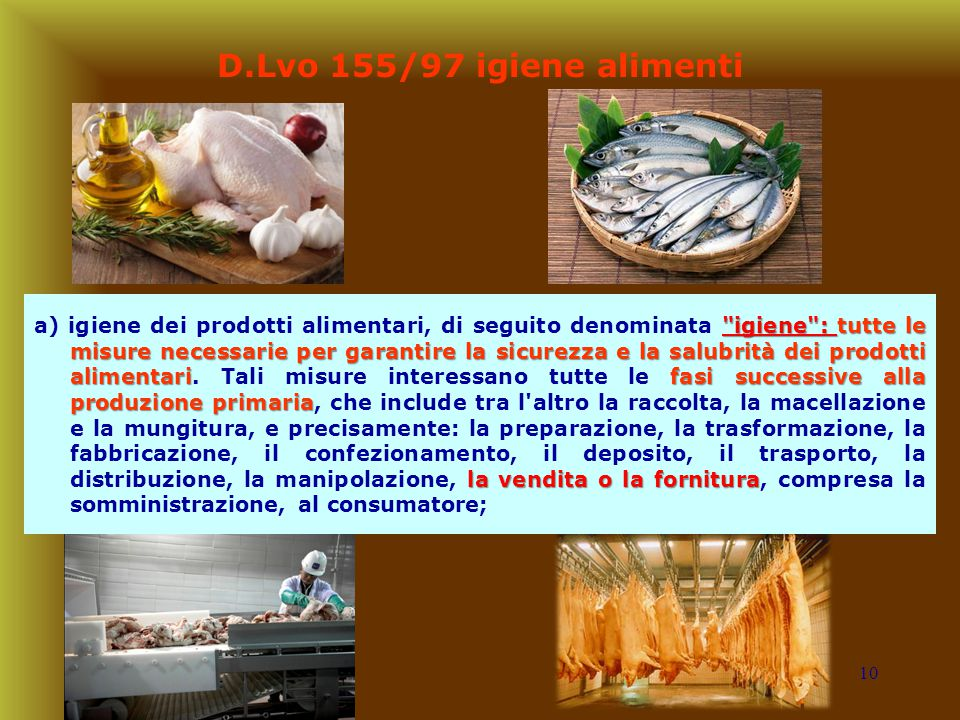D.Lvo 155/97 igiene alimenti