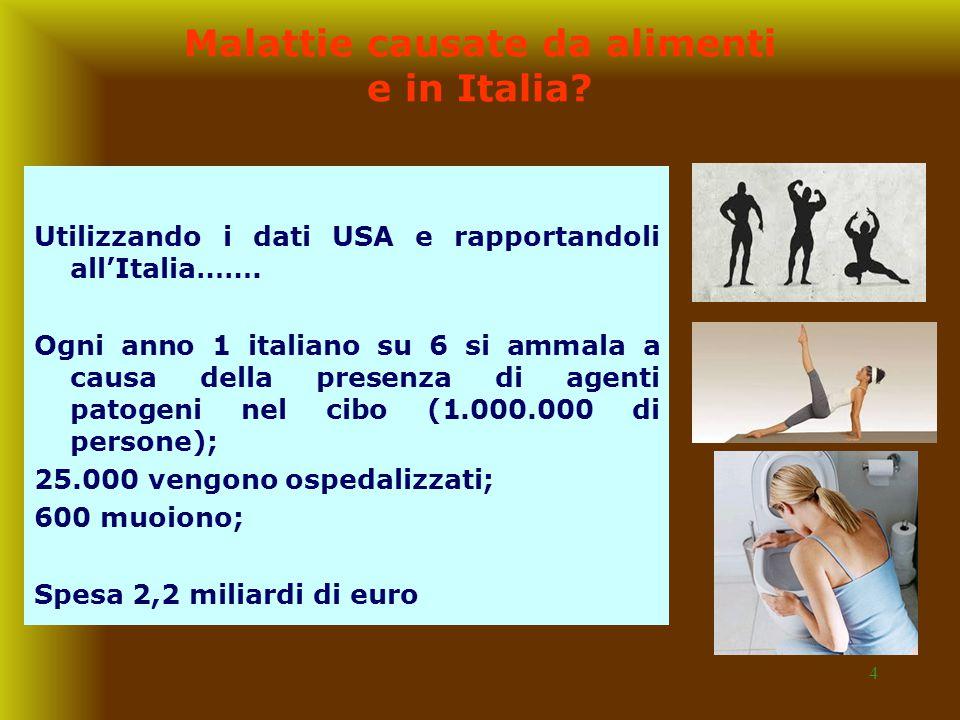 Malattie causate da alimenti e in Italia