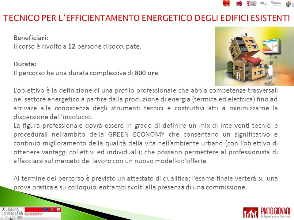 TECNICO PER L'EFFICIENTAMENTO ENERGETICO DEGLI EDIFICI ESISTENTI