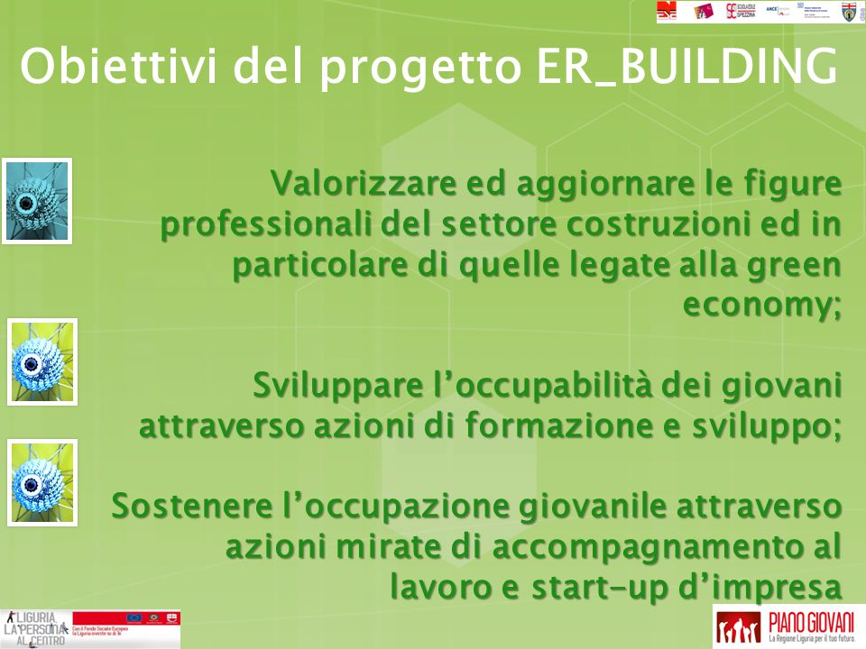 Obiettivi del progetto ER_BUILDING