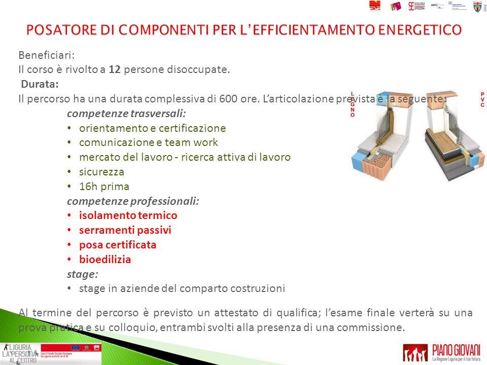 POSATORE DI COMPONENTI PER L'EFFICIENTAMENTO ENERGETICO