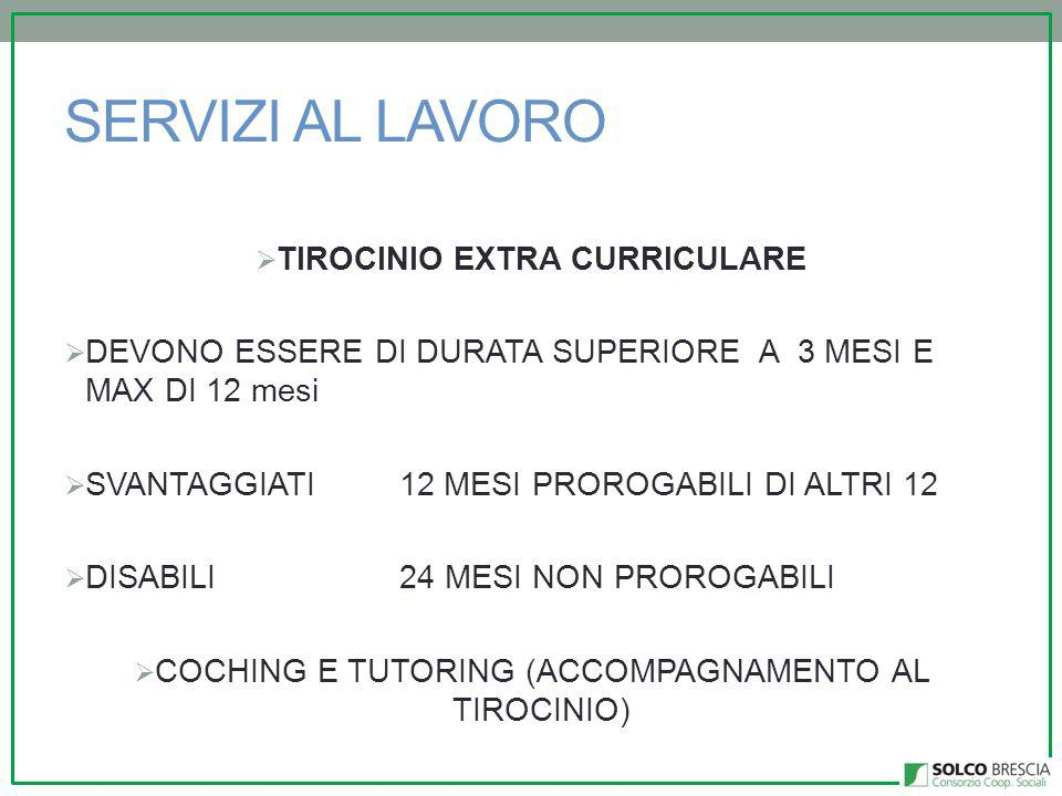 TIROCINIO EXTRA CURRICULARE