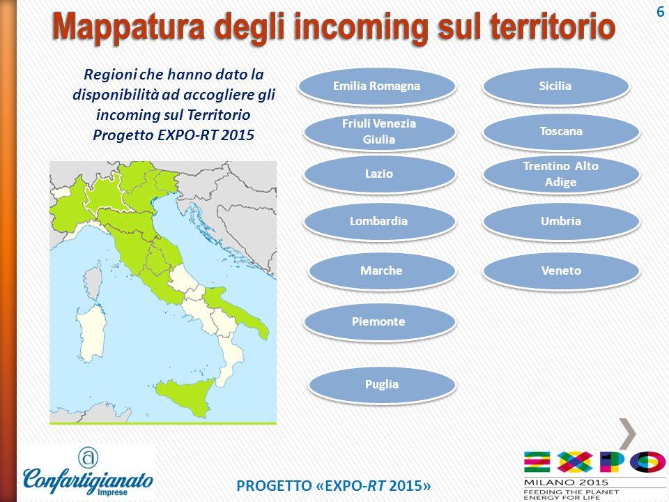 Mappatura degli incoming sul territorio