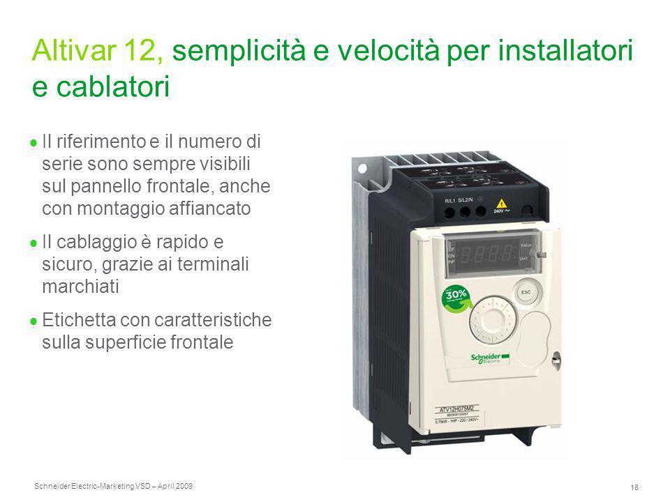 Altivar 12, semplicità e velocità per installatori e cablatori