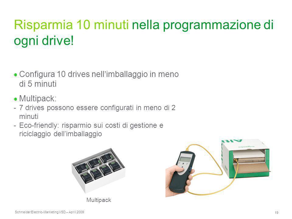 Risparmia 10 minuti nella programmazione di ogni drive!