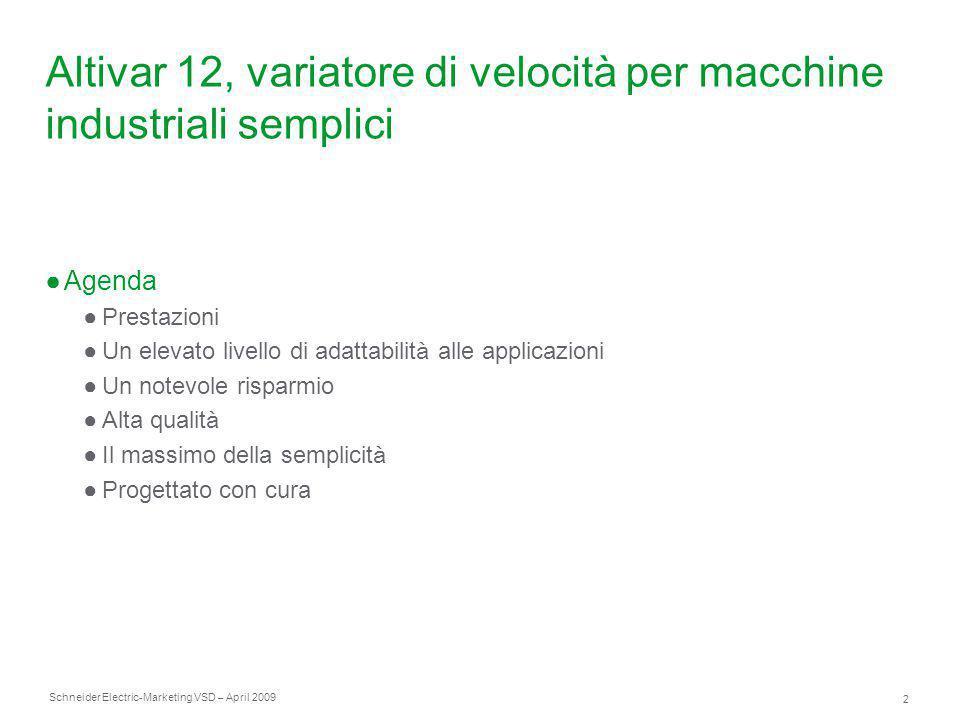 Altivar 12, variatore di velocità per macchine industriali semplici