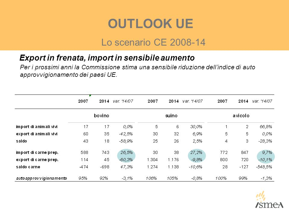 OUTLOOK UE Lo scenario CE 2008-14